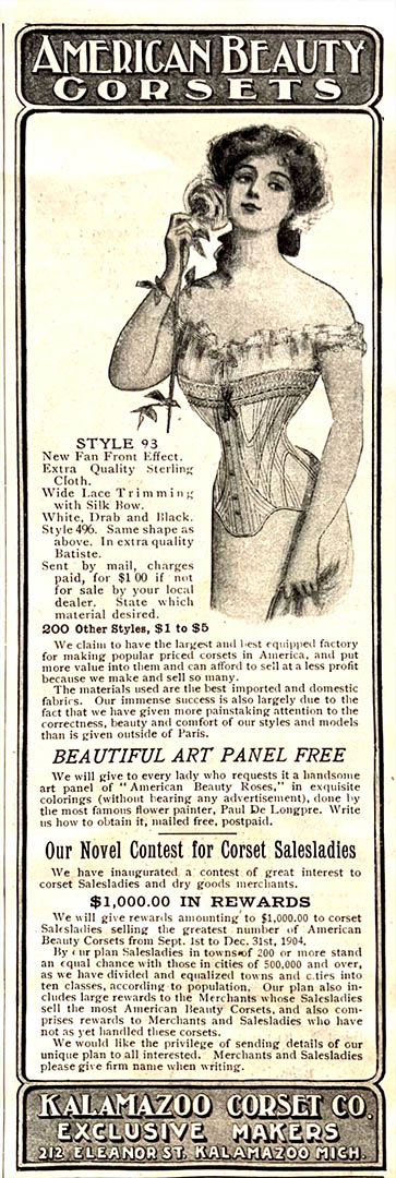 Advertisement for American Beauty Corsets