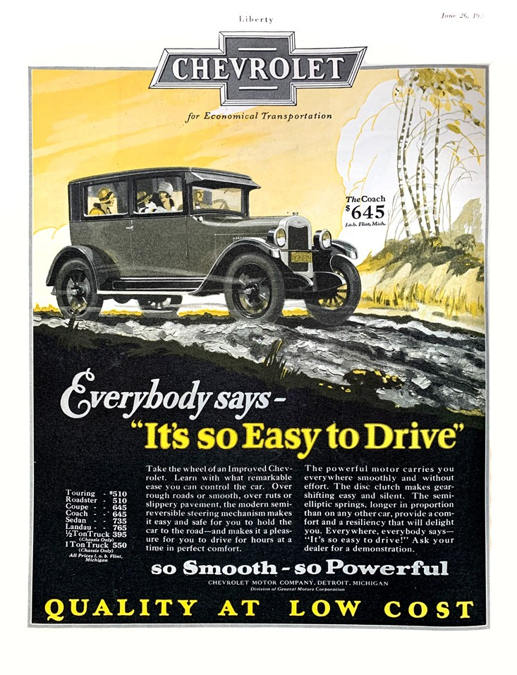 1925 Chevrolet advertisement