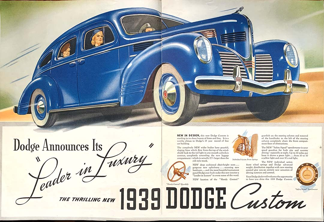 Reproduction of 1939 Dodge Advertisement
