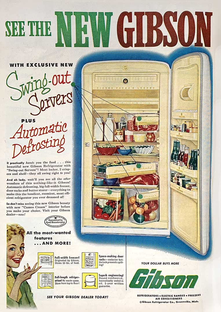 Who would want an ice-box when you could have this Gibson Refrigerator.