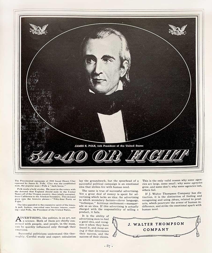 an advertisement built upon an idea