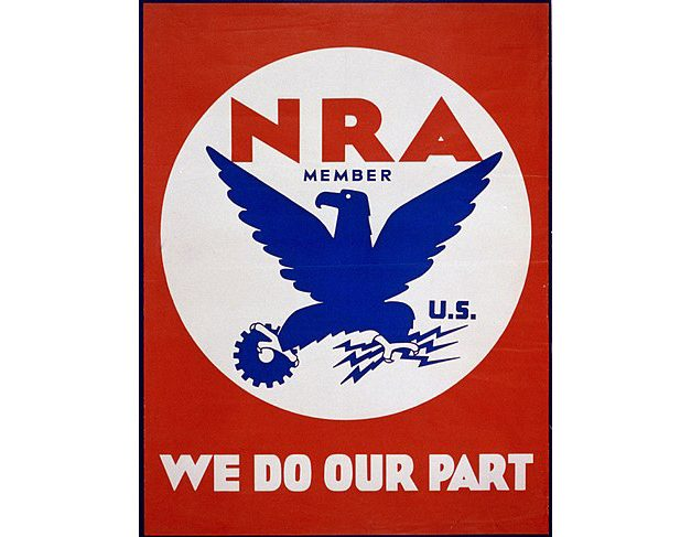 In 1933 this NRA logo had nothing to do with guns