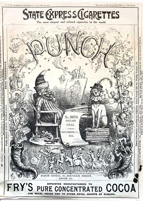 The cover of Punch magazine, January 16, 1918
