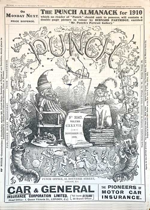 This is the cover of Punch magazine, November 22, 1911