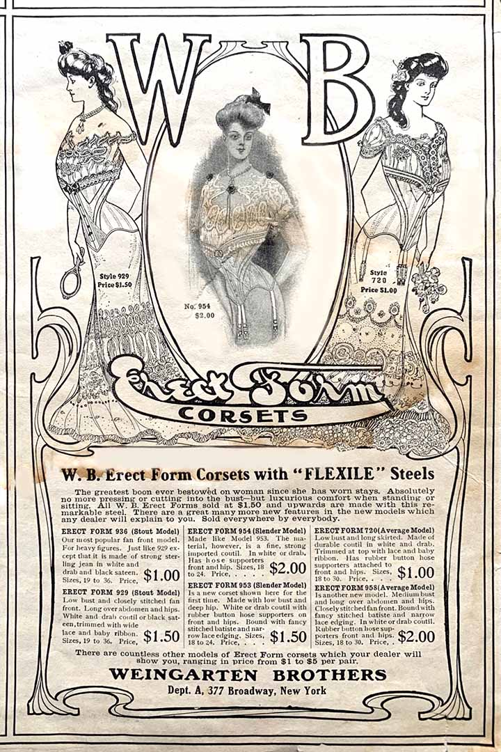 Advertisement for Erect Form  Corsets
