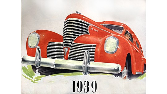 Review these Chrysler, De Soto and Dodge advertisements of1939